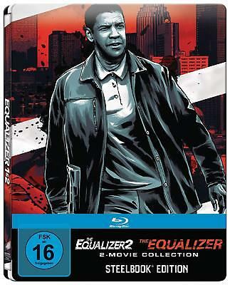 The Equalizer 1 & 2 (Blu-ray Steelbook) 2-MOVIE COLLECTION BRAND NEW