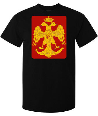 Byzantine Eagle Red And Yellow Artwork men's (woman's available) t shirt black