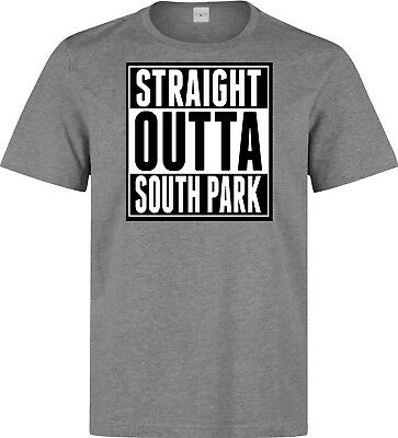 1ff64c329 Straight Outta South Park Funny Slogan Men's (woman's available) grey t  shirt