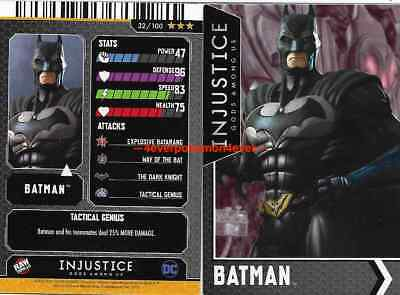 Injustice Arcade Dave and Busters Gold Card 32 Batman FOIL
