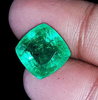 Loose Gemstone 7.97 Ct Natural Certified Cushion Shape