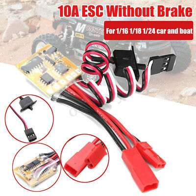 10A ESC Fahrregler Brushed Speed Controller Without Brake Für RC Auto KFZ Boot