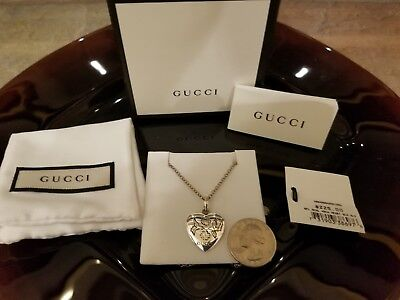 df9d3b78e00 Gucci Women's Blind for Love Sterling Silver Heart Pendant Necklace nwt