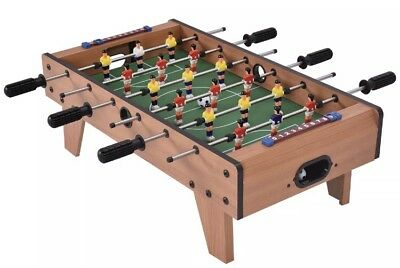 27'' Table Top Football Soccer Kids Family Game Toy Set Wooden Frame Xmas Gift