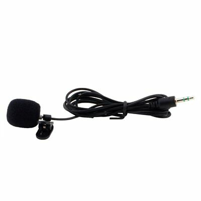 Tie Clip Mic Lapel Lavalier Condenser Microphone 3.5mm For Mobile Cell Phone PC