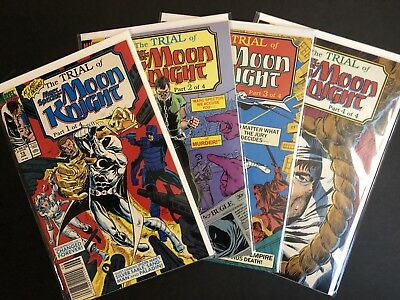 Marc Spector Moon Knight #15-18 VF/NM THE TRIAL OF MOON KNIGHT