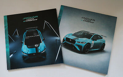 Jaguar I-Pace e-Trophy: 2 Presse-Kataloge / Bücher / press catalogues / books