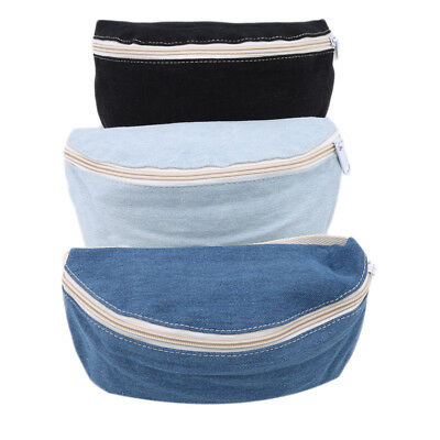 Female Canvas College Style Casual Belt Waist Bag Pack Simple Zipper Bag N7