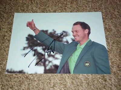Danny Willett Signed Us Masters Photo