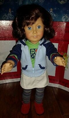 """Authentic American Girl Of The Year #1 Lindsey 18"""" Doll + Meet Outfit/book (280)"""