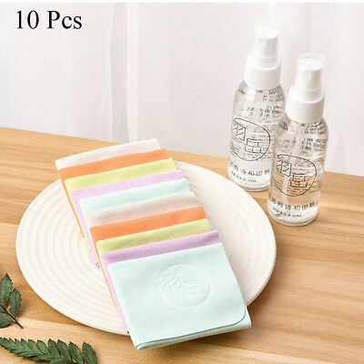 10x/set Eyeglasses Chamois Glasses Cleaner Microfiber Glasses Cleaning Cloth New