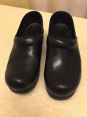 Dansko Womens Black Professional Leather Clogs Nursing Slip On 7US/ 39EUR