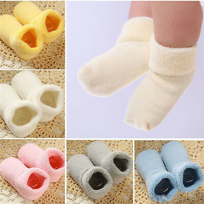 Baby Unisex Newborn Winter Warm Boots Toddler Infant Soft Socks Booties Shoes JF