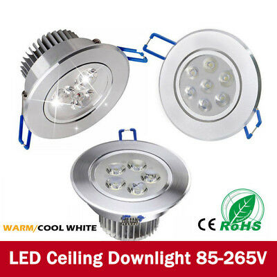Dimmable 3W 7W 12W LED Downlight Recessed Ceiling Light Bulb Spotlight Round Kit