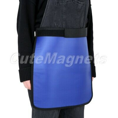 Unisex X-Ray Protection Protective Half Lead Apron 0.5mmpb Blue 450mm*450mm