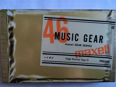 Maxell Music Gear 46 Factory Sealed Audio Cassette Japan