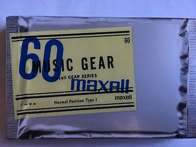 Maxell Music Gear 60 Factory Sealed Audio Cassette Japan