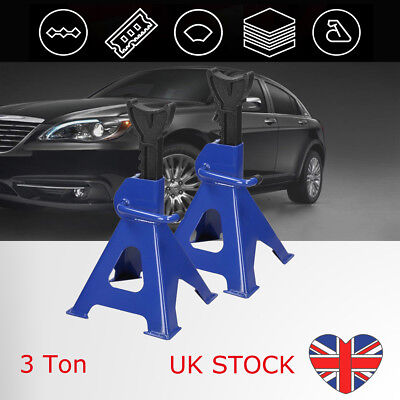 2x Car 3 Tonne Ton Axle Stand Set Jack Stands Fast Pair Large Quick Release Lift