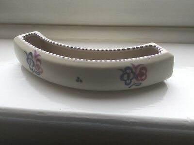 Vintage Poole Pottery Bulb Planter Crescent Shaped For Indoor Use
