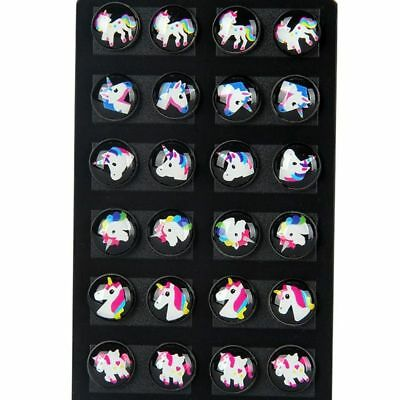 Baby Earrings Sets 12Pairs Kids Stud Women Small Children Jewelry Fashion Resin