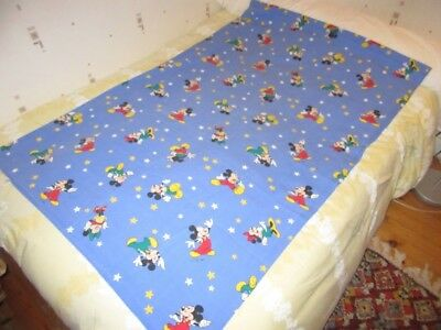 Drap De Lit Vintage Disney Cti France Mickey + Minnie Stars Vintage Set Of Bed