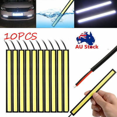 10x Waterproof White DRL COB LED Strip Light Bar Camping Caravan Boat Car DC 12V