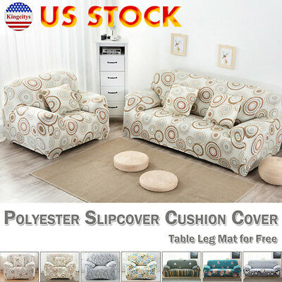 US Stretch Chair Sofa Couch Protect Cover Slipcover 1-2-3-4 Seater 7 Colors New