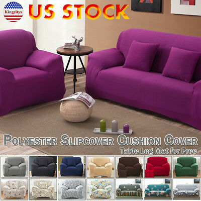 Stretch Chair Loveseat Sofa Couch Protect Cover Slipcover 1-2-3 Seater 14 Colors