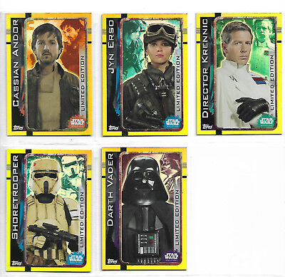 Rogue One : A Star Wars Story Topps Euro (UK) 5 Limited Edition Promo Set