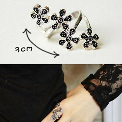 Fashion four small plum personality rings vintage flower joint rings jewelry