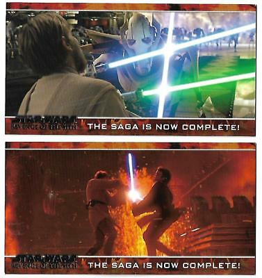 Star Wars: Revenge of the Sith Widevision 2 Promo Card P1 & P2 Set - TOPPS 2005