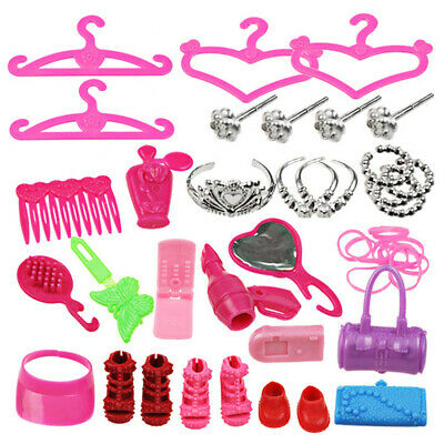 42pcs Doll Clothes Party Gown Outfits and Accessories for Barbie Dresses Shoes