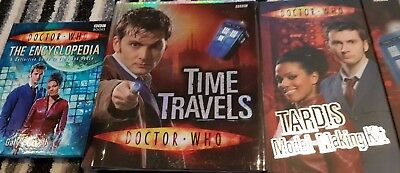 3x NEW Doctor Who items TARDIS Model Making Kit,Encyclopedia,Time Travels Pop Up