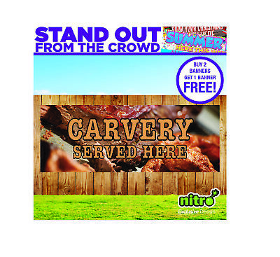 Carvery Served Here PVC Banner Outdoor Cafe Ready 2 Hang