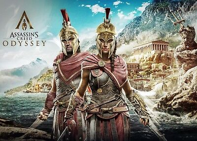 Assassins Creed Odyssey Poster Print - Matte - Wall Art - Buy 2 Get 1 Free