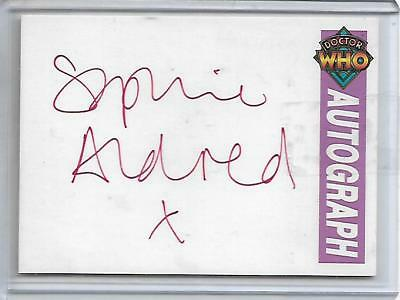Doctor Who (Series 2) Limited Autograph Card Sophie Aldred RED Cornerstone 1995