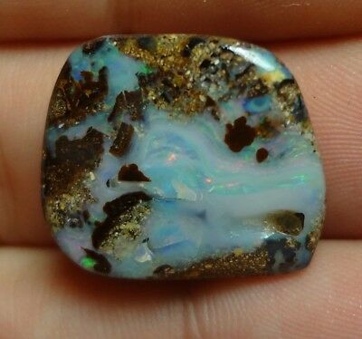 Lapidary: 14.9 Carat Natural, Polished Solid Boulder Opal From Quilpie, QLD