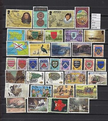 Stamps Lot British Colonies & Territories Jersey Used (L23310)