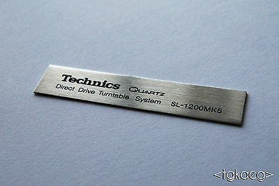 TECHNICS SL-1200 MK5 Turntable Plaque / Logo / Decal (HIGH QUALITY)