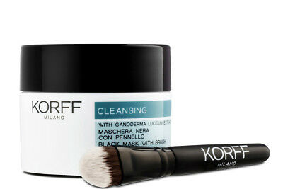Korff CLEANSING Maschera Viso Nera con Pennello Ganoderma Black Mask Brush 75ml