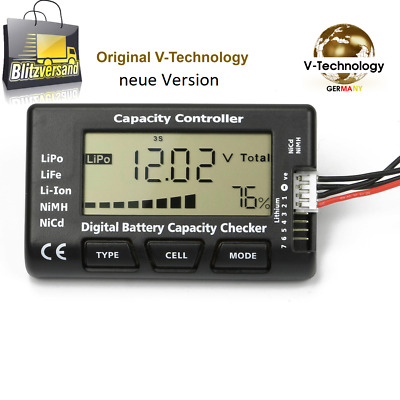 V-Technology LiPo Tester V3.5 Battery Batterie Checker 1-7S Li-Ion NiMH Nicd G91