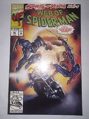Web of Spider-Man # 96 (1992) Marvel Comics * Venom