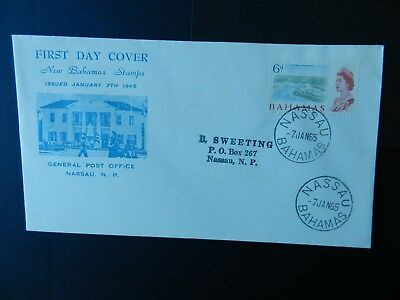 Bahamas First Day Cover 1965 stamp 6d
