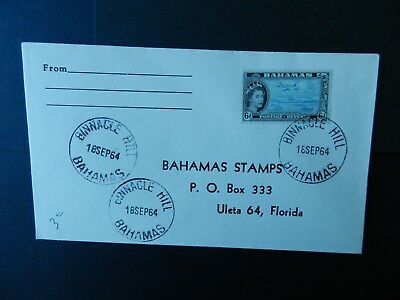 Bahamas First Day Cover 1964 stamp 6d