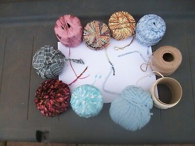 job lot 10 balls ladder yarn different makers hand knit crochet yarn