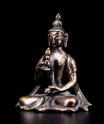 Asian Nepal old antique copper Shah Dynasty 18th red Vajrasattva statue