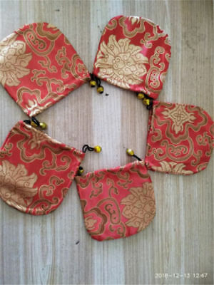 sale 5 pcs Chinese Handmade Classic Red Silk Jewellery Pouch/Coin Purse Gift Bag