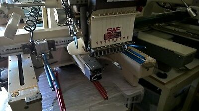 swf 9, 12  & 15 Needle embroidery machines complete with QUE Clamping System