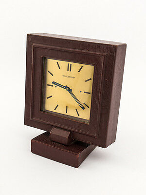 Rare Jaeger-LeCoultre table clock with 8 day movement, art deco, 1940´s