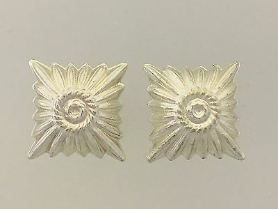 German Wehrmacht WWII Silver rank pips or stars. Large for shoulder boards